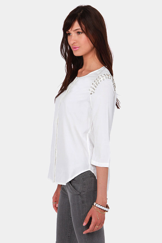 Sparkle Avenue White Rhinestone Top at Lulus.com!