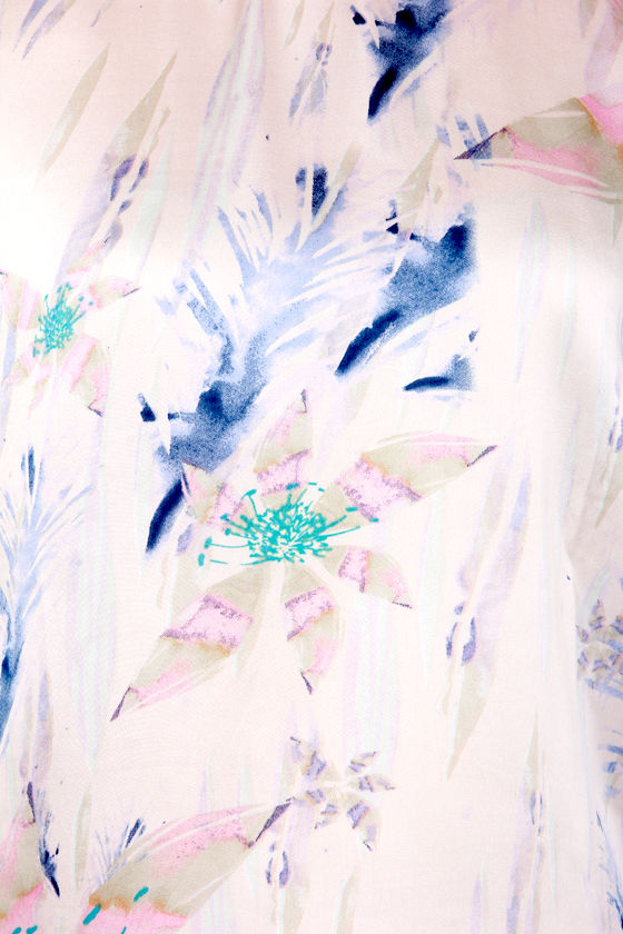 Japanese Garden White Floral Print Top at Lulus.com!