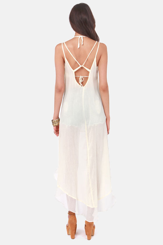 RVCA Mogador Cream High-Low Dress at Lulus.com!