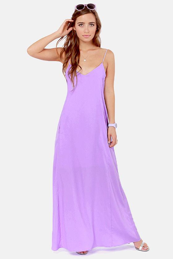 Cute Lavender Dress - Maxi Dress - $54.00