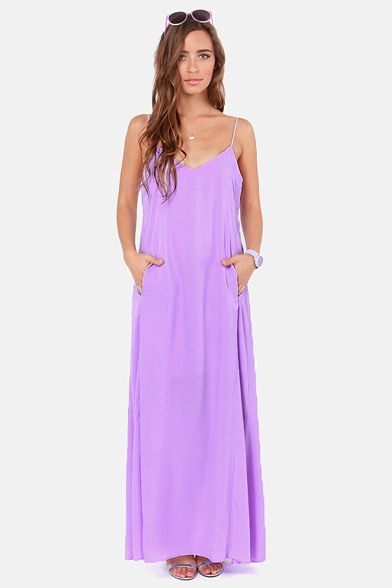 I'll Slink to That Lavender Maxi Dress at Lulus.com!