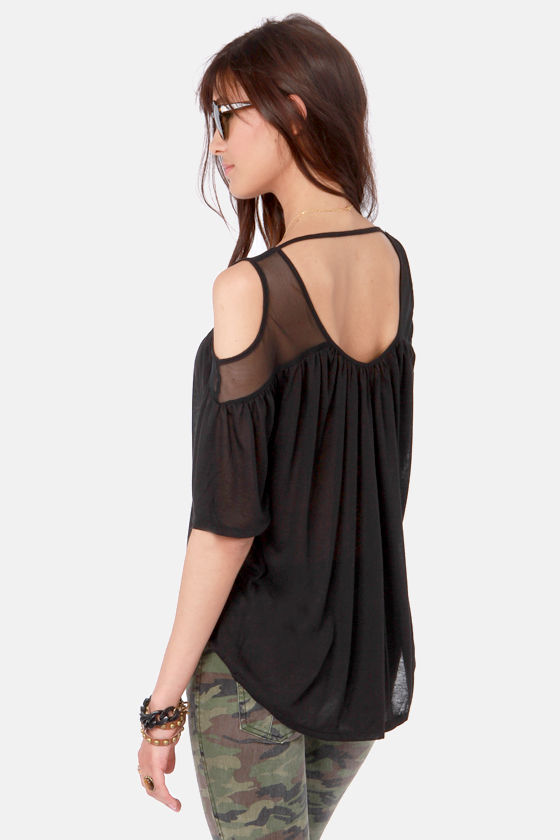 More or Mesh Black Mesh Top at Lulus.com!