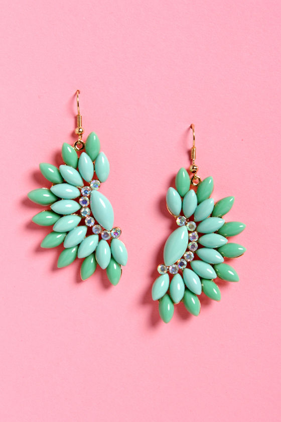 Fan the Breeze Turquoise Earrings at Lulus.com!