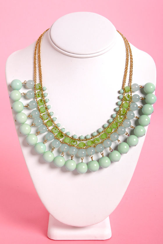 Ice Department Mint Statement Necklace at Lulus.com!