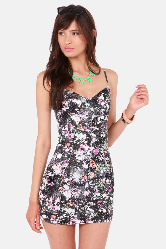 Volcom Safe Place Black Print Dress at Lulus.com!