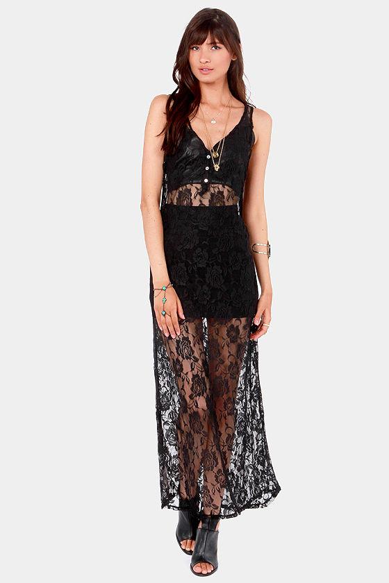 961959e0b4b Gypsy Junkies Venice Dress - Black Dress - Maxi Dress -  63.00