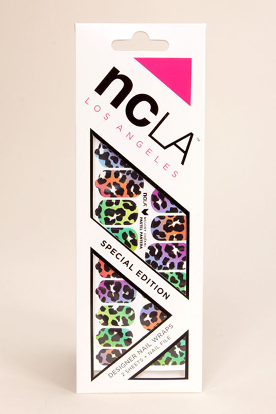 NCLA Pastel Pantera Animal Print Nail Wraps at Lulus.com!