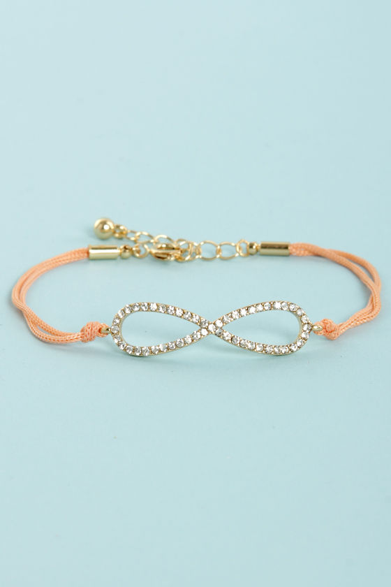 All I Want is Forever Peach Infinity Bracelet at Lulus.com!