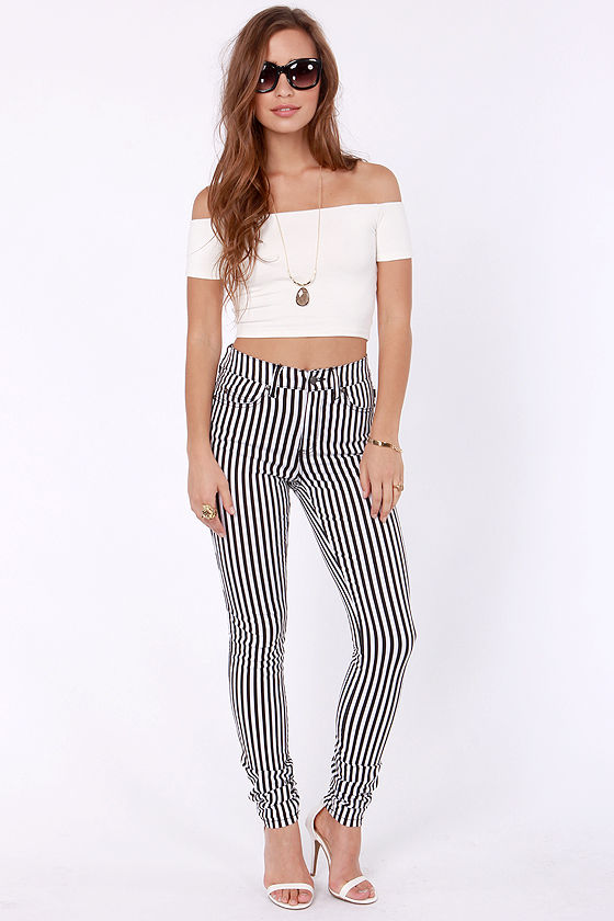 Crop Top Story Ivory Off-the-Shoulder Top at Lulus.com!