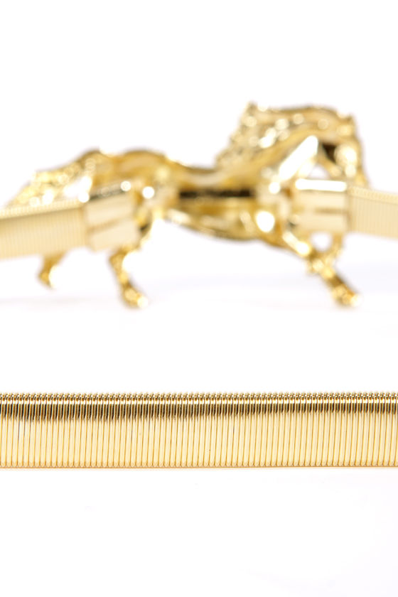 From the Horse's Mouth Gold Horse Belt at Lulus.com!