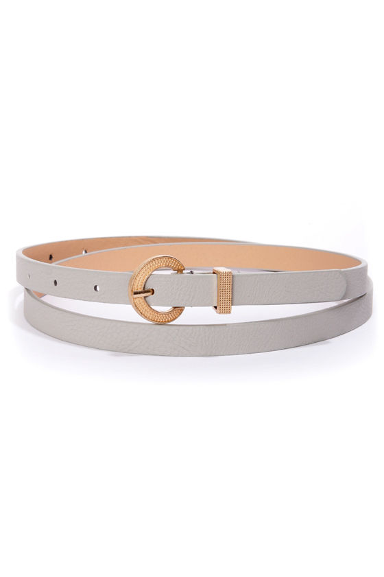 Moondust Grey Skinny Belt at Lulus.com!