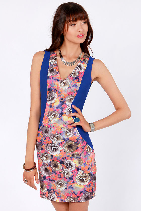 One Fine Daisy Blue Floral Print Dress at Lulus.com!