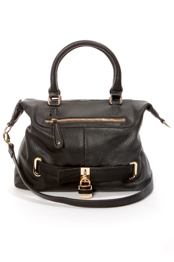 Best of Lock Black Handbag at Lulus.com!