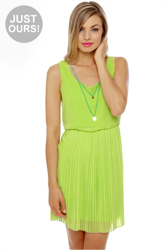 Lime Green Club Dresses Pretty Lime Gre...