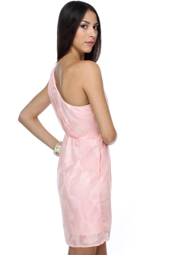 Get Gorgeous Pink One Shoulder Dress