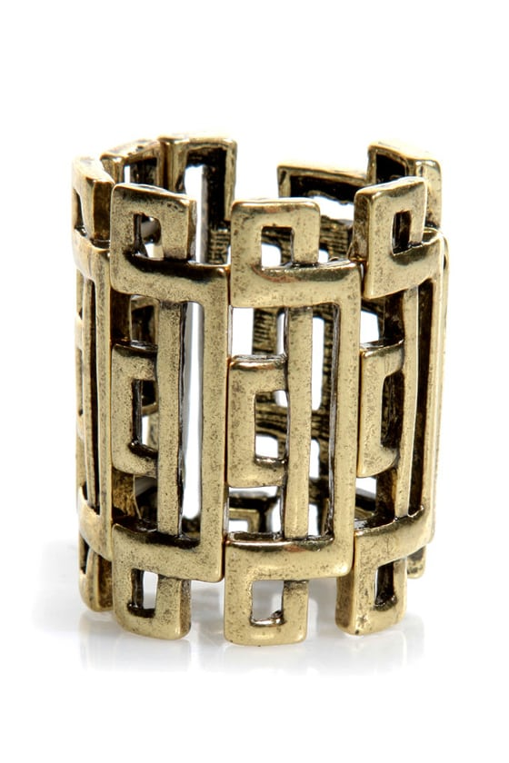 Daily Puzzler Gold Stretch Ring