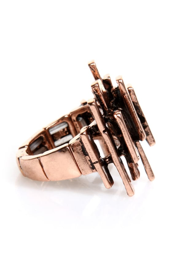 Column Me Back Copper Stretch Ring at Lulus.com!