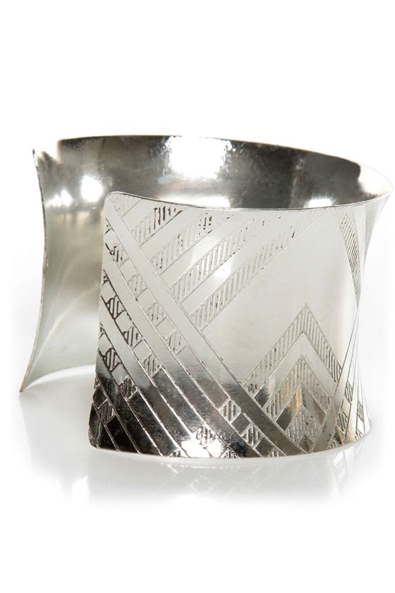 Zad Are You Up For It? Silver Cuff Bracelet