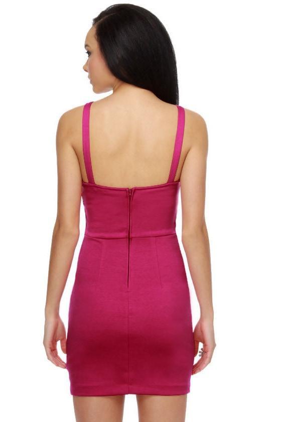 Surprise Surprise Fuchsia Dress