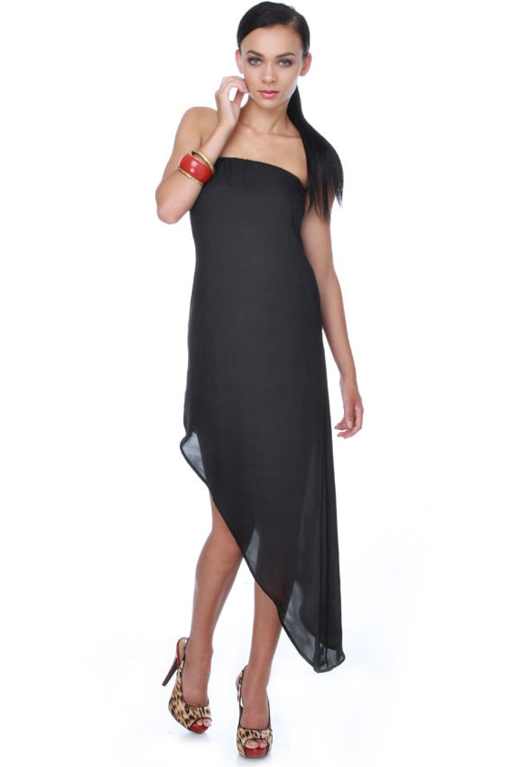 BB Dakota Alison Asymmetrical Black Dress