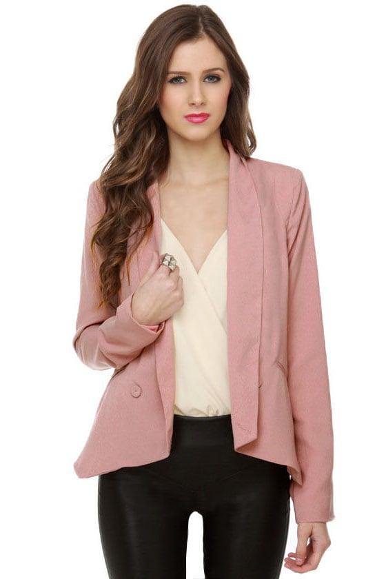 Cute Mauve Blazer - Dark Pink Blazer - Womens Blazer - $47.00
