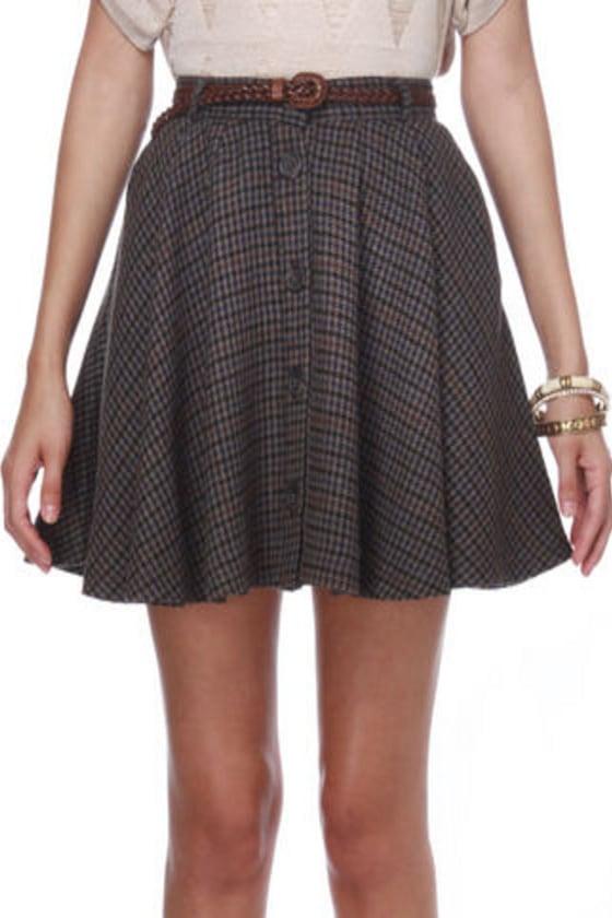 BB Dakota by Jack Emerson Plaid Mini Skirt