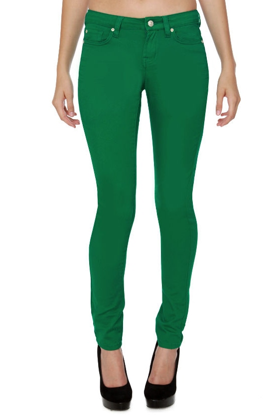Moves Like Jagger Bright Green Jeggings at Lulus.com!