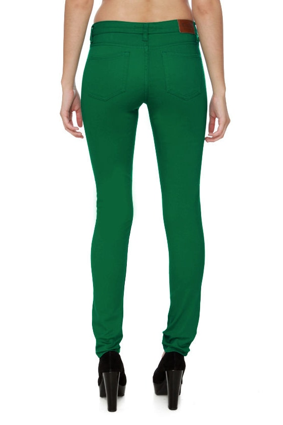 Moves Like Jagger Bright Green Jeggings