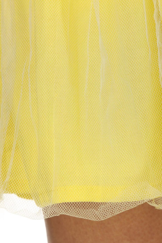 Whole Lot of Citron Going On Strapless Dress