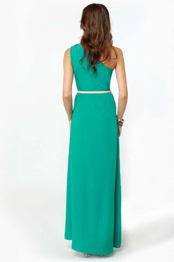 Temptress Teal Maxi Dress