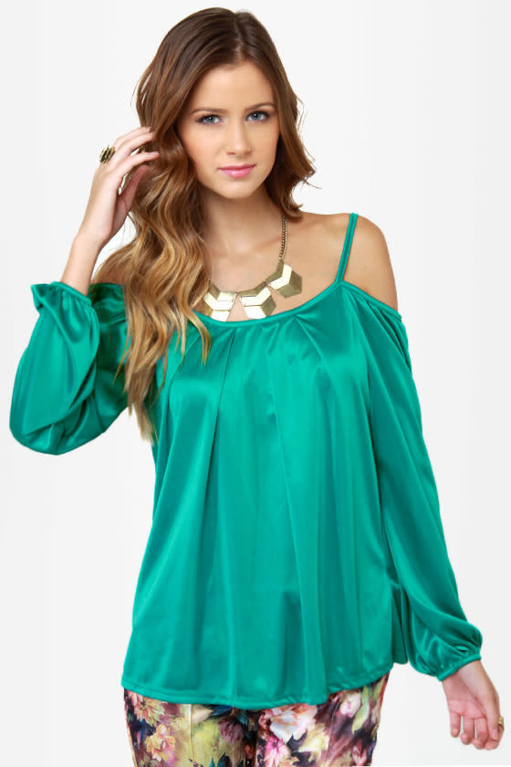 Hot and Cold Teal Top