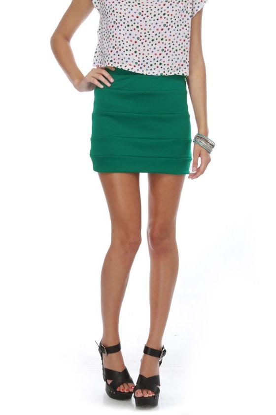 Welcome to Oz Jade Green Mini Skirt