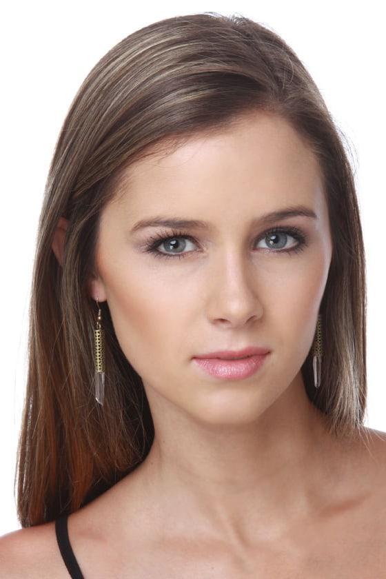 Clear as Crystal Bronze Earrings