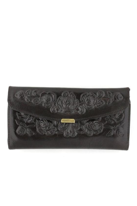 Spanish Rose Wallet in Black