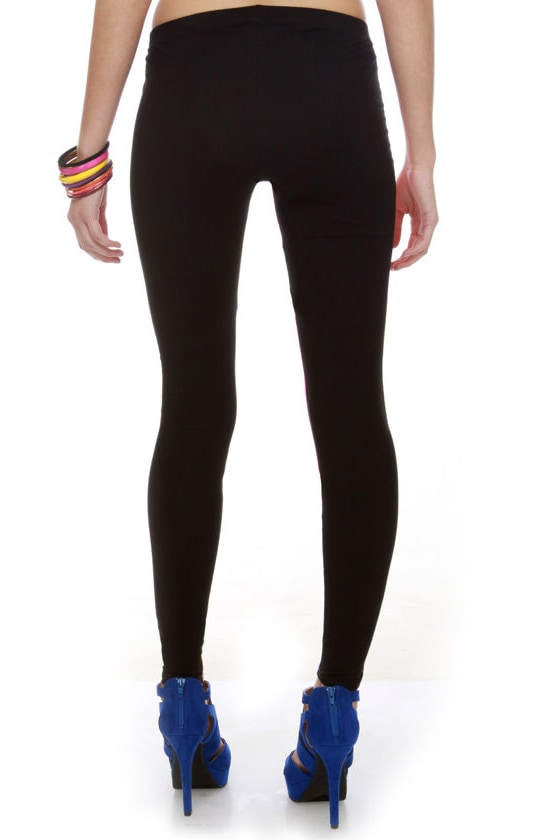 Marker Art Color Block Leggings