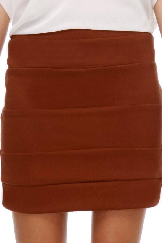 Welcome to Oz Burnt Orange Mini Skirt