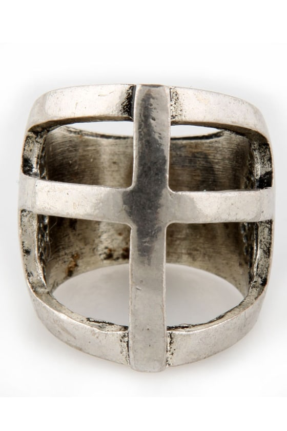 Occult Classic Cross Ring