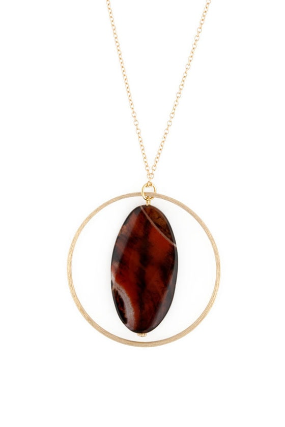 Through Hoops Agate Necklace