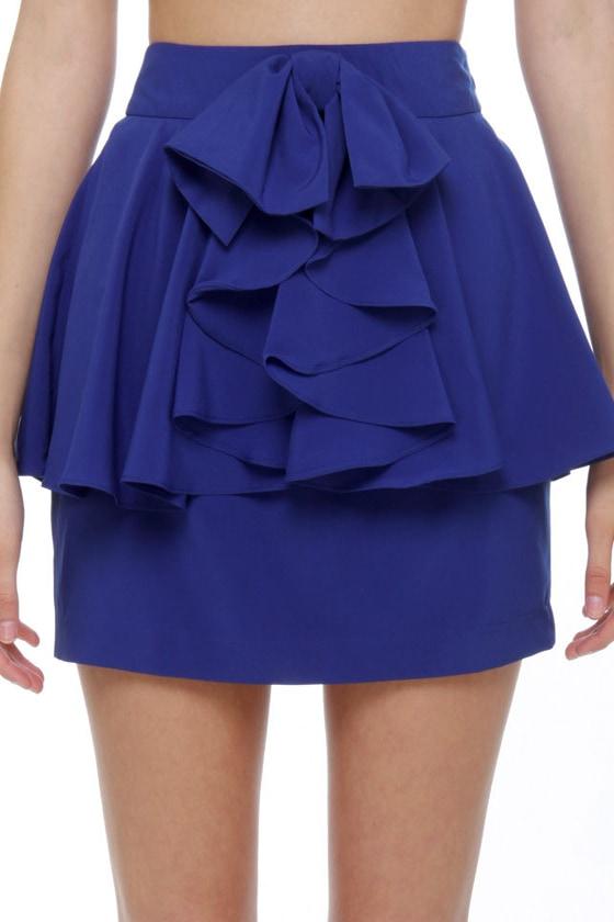 Sea and Say Royal Blue Mini Skirt