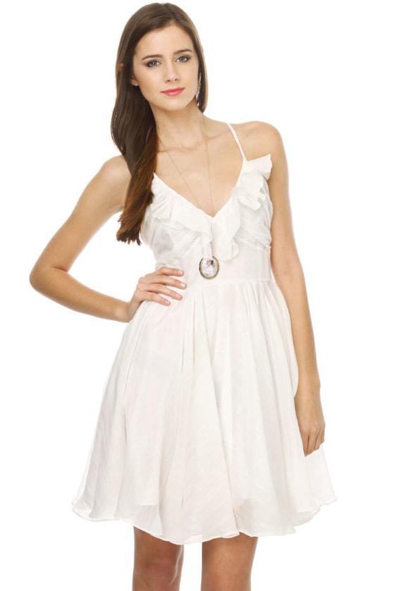 Moon Terrace Sparkle White Dress