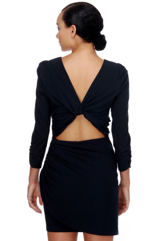 Theater District Navy Blue Dress