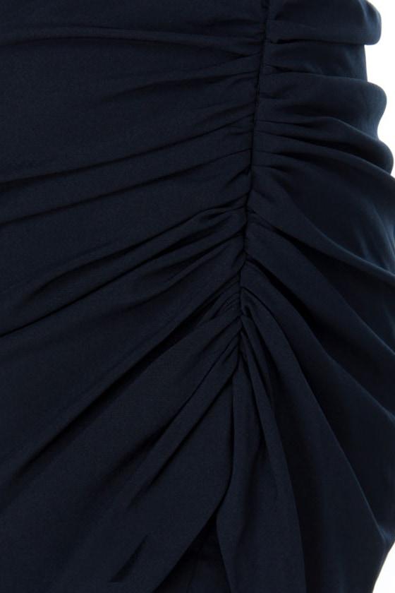 Theater District Navy Blue Dress