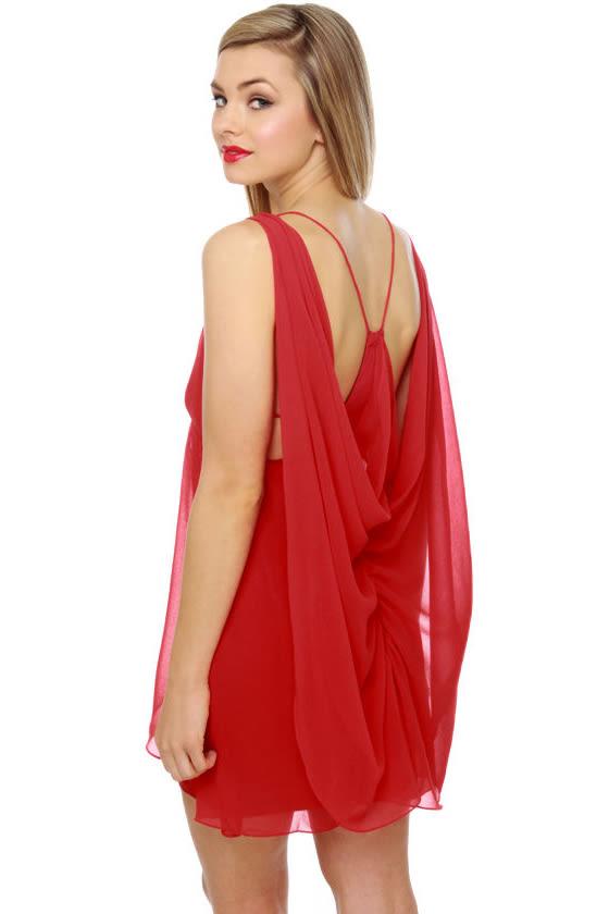 Katniss on Fire Red Dress