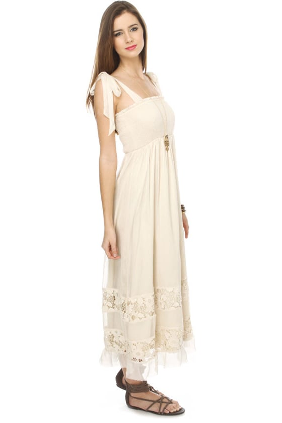 Sweetwater Beige Maxi Dress