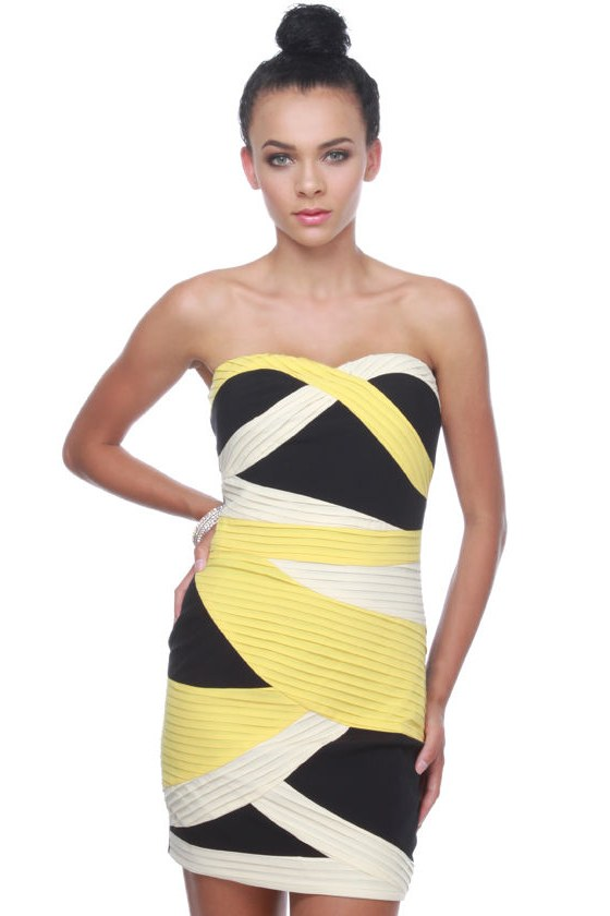Bumble Rumble Strapless Dress