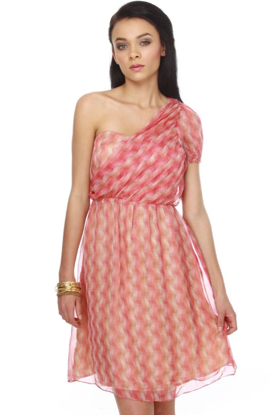 Pastoral Reverie Red Print Dress