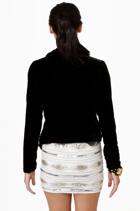 De-velvet-ishly Good Black Velvet Jacket