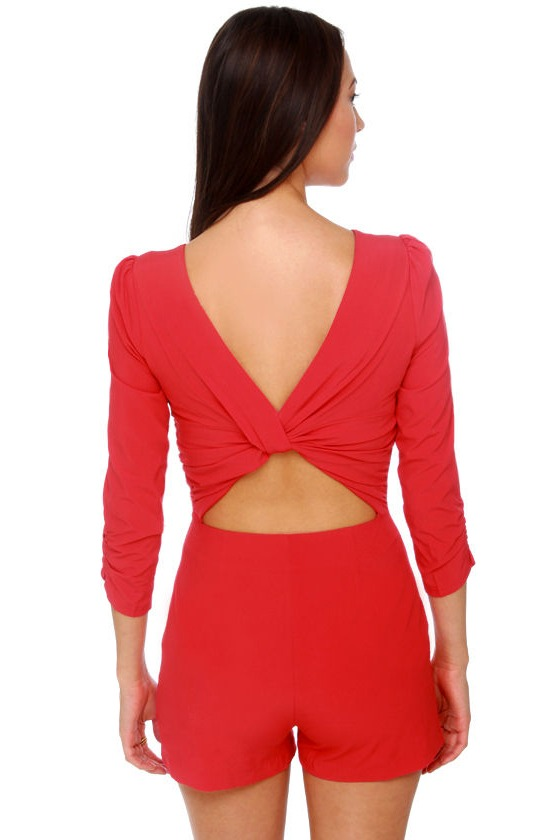 Total Prima Donna Red Romper at Lulus.com!