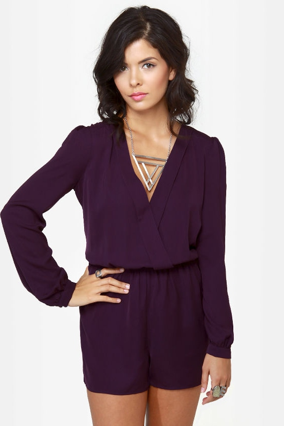 Press Release Purple Romper at Lulus.com!