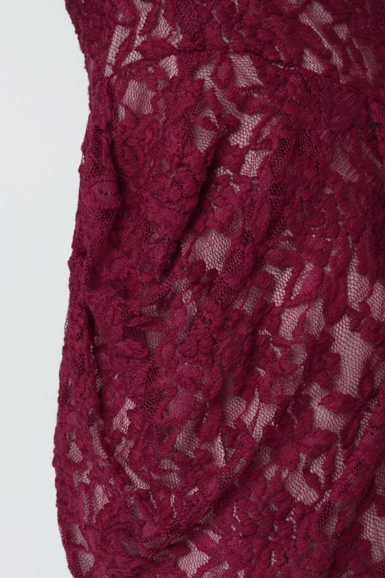 Rhonda Burgundy Lace Romper